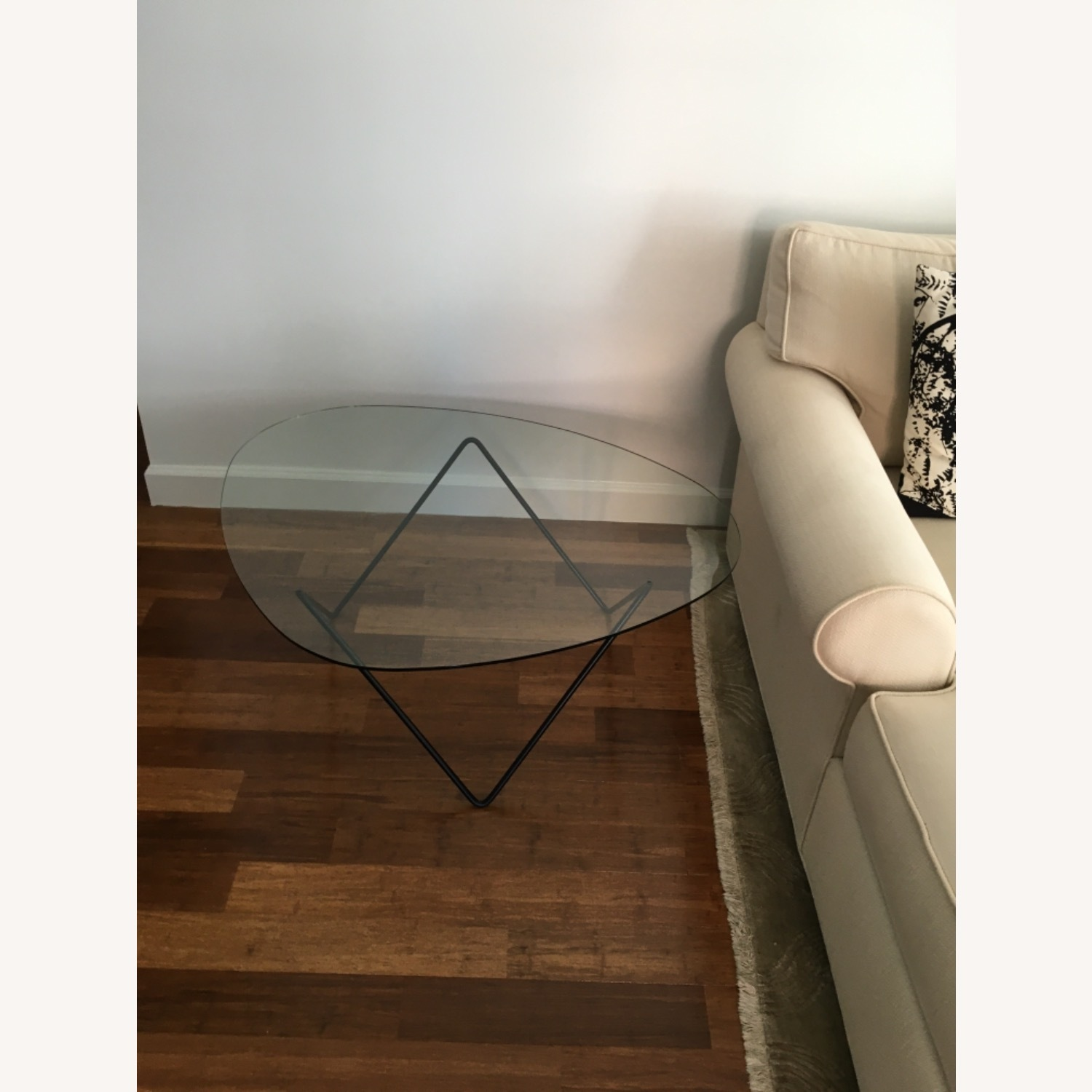 Design within Reach Glass Coffee Table - image-3