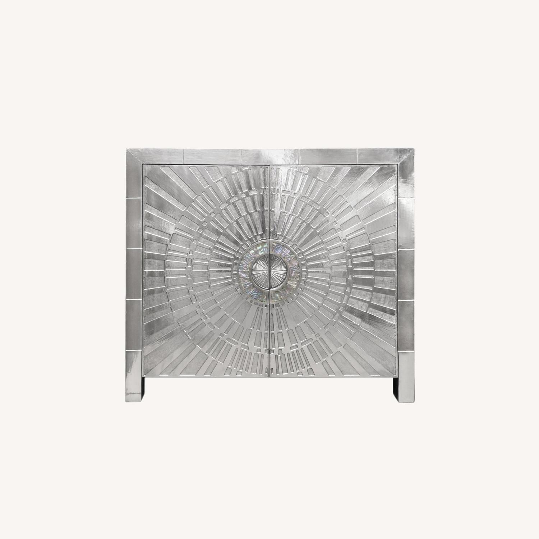Jonathan Adler Silver Cabinet - image-0