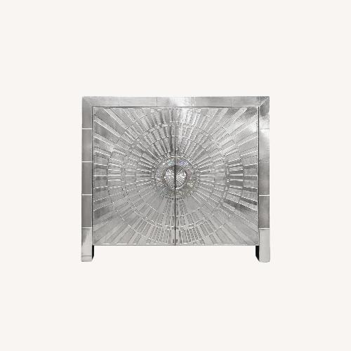 Used Jonathan Adler Silver Cabinet for sale on AptDeco