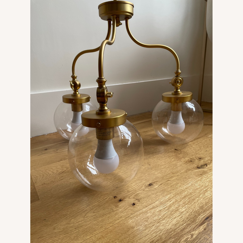 Three-light Globe Chandelier - image-1