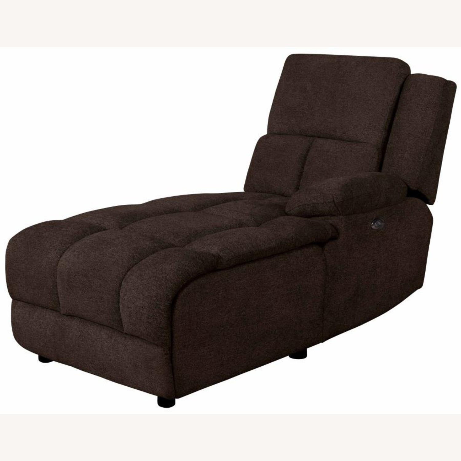 6Piece Power Sectional In Brown Performance Fabric - image-6