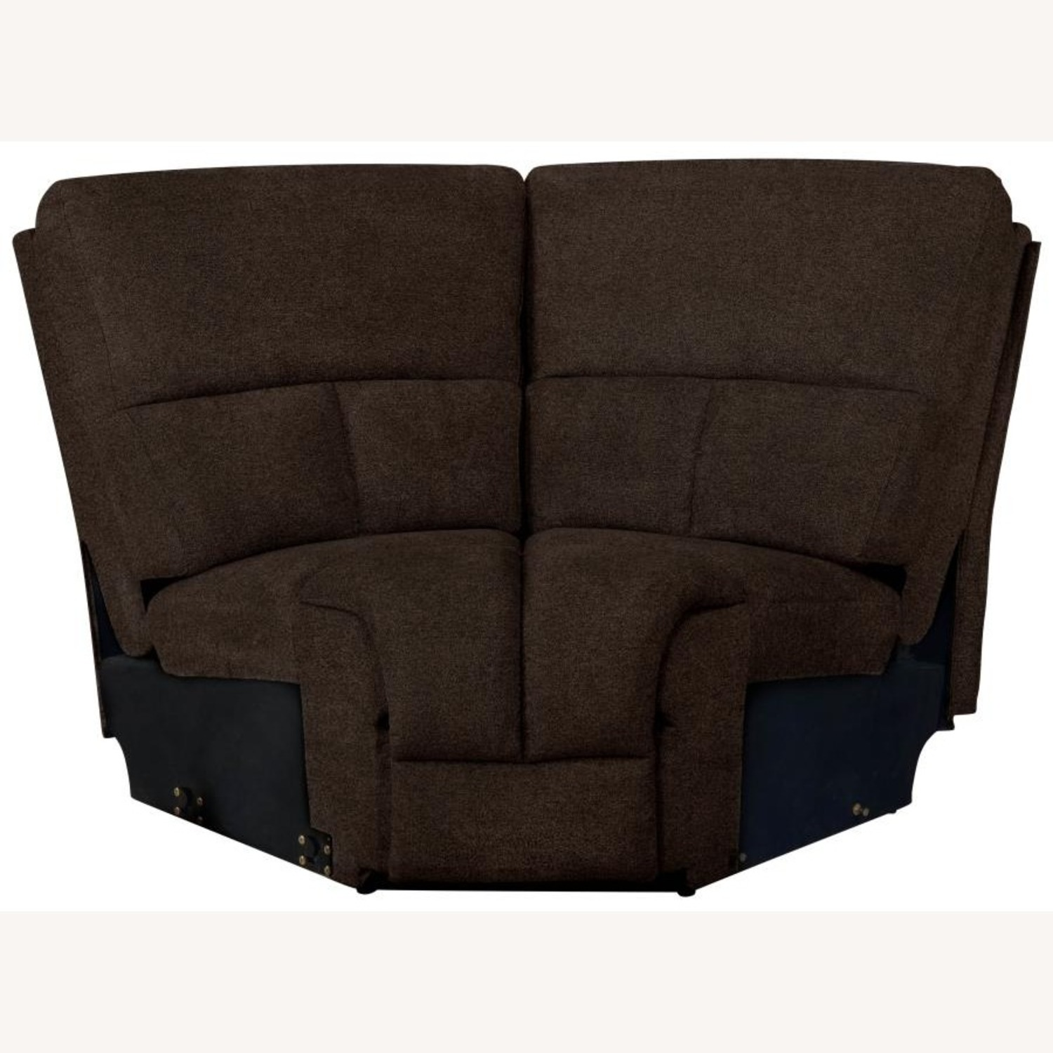 6Piece Power Sectional In Brown Performance Fabric - image-7