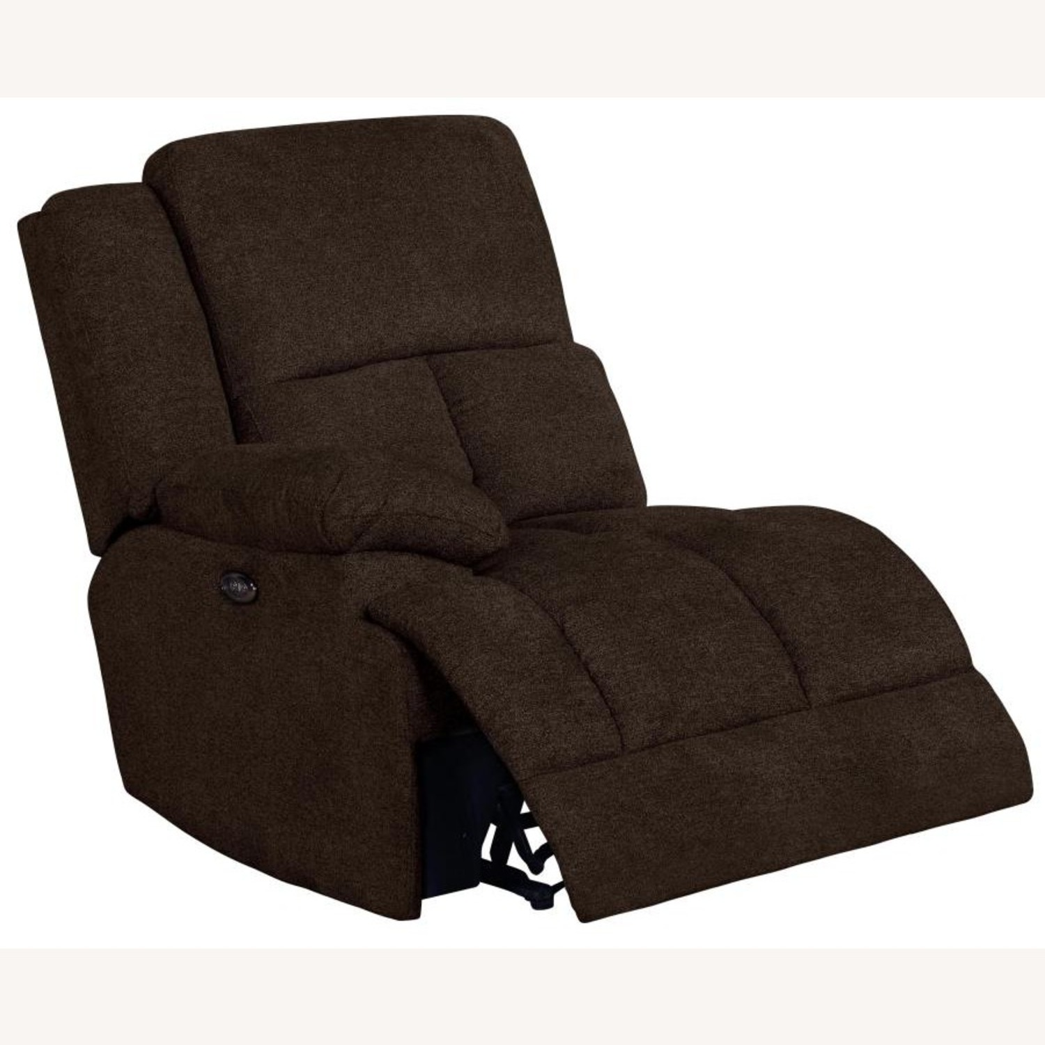 6Piece Power Sectional In Brown Performance Fabric - image-2