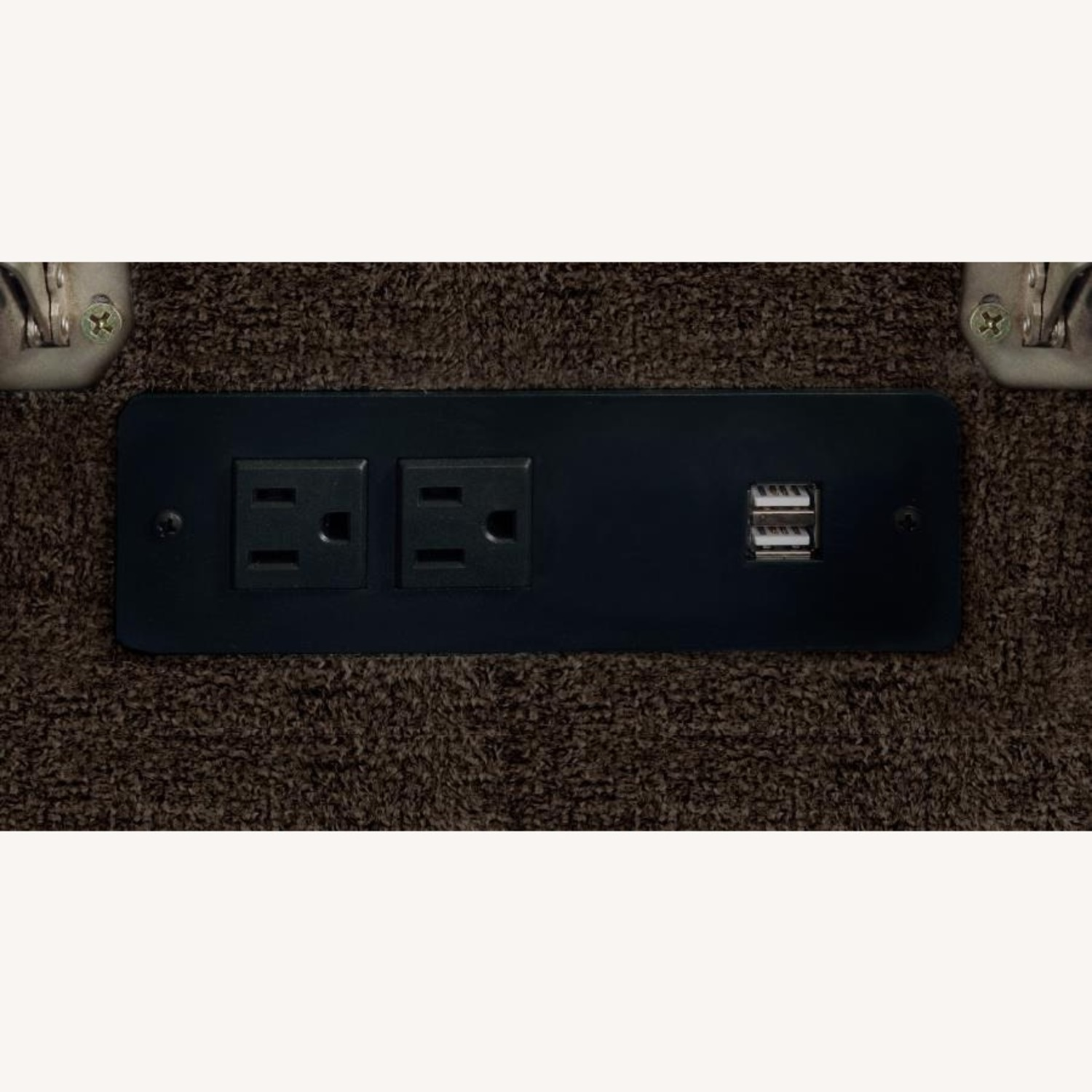 6Piece Power Sectional In Brown Performance Fabric - image-10