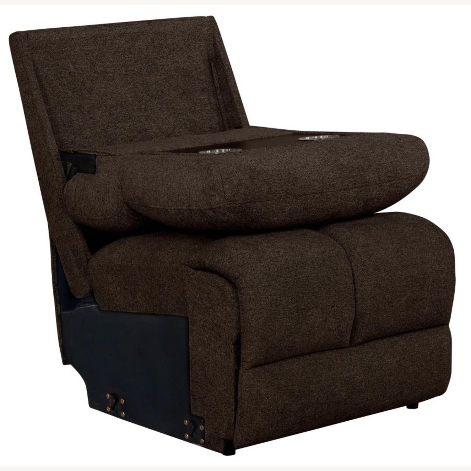 6Piece Power Sectional In Brown Performance Fabric - image-3