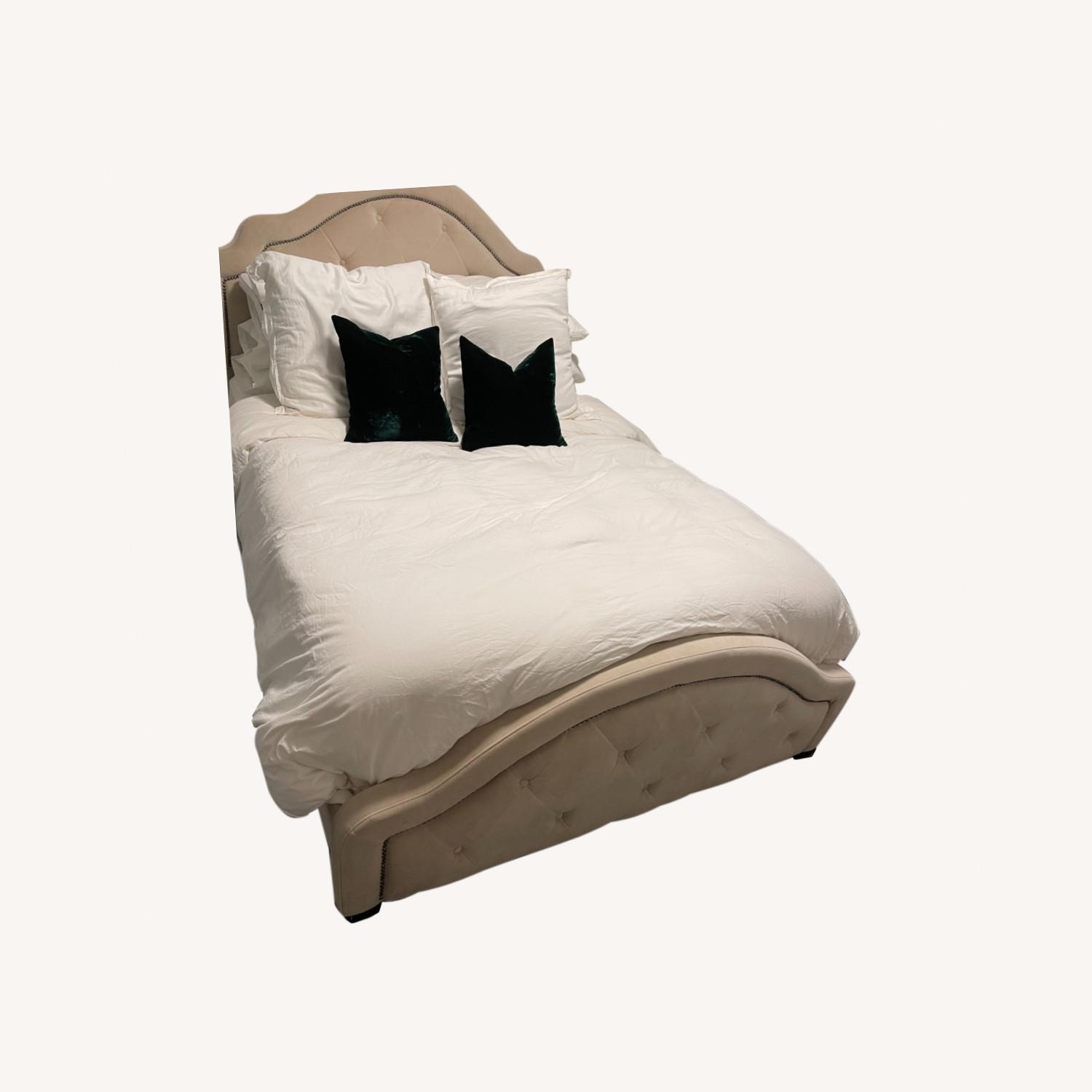 Raymour & Flanigan Queen Natural Bed Frame - image-0