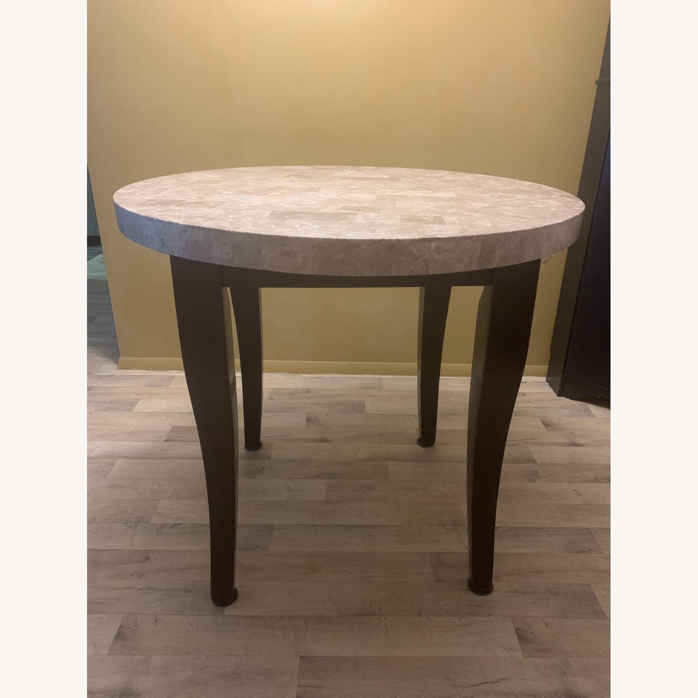 "Montibello Marble 40"" Round 5-Piece Dining Set - image-3"