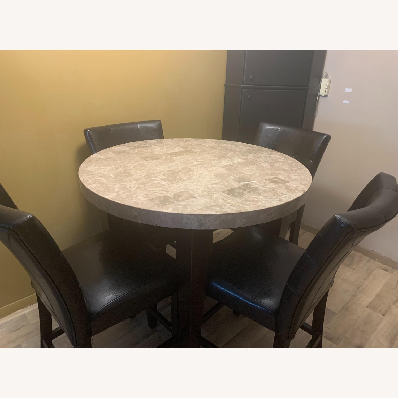 "Montibello Marble 40"" Round 5-Piece Dining Set - image-1"
