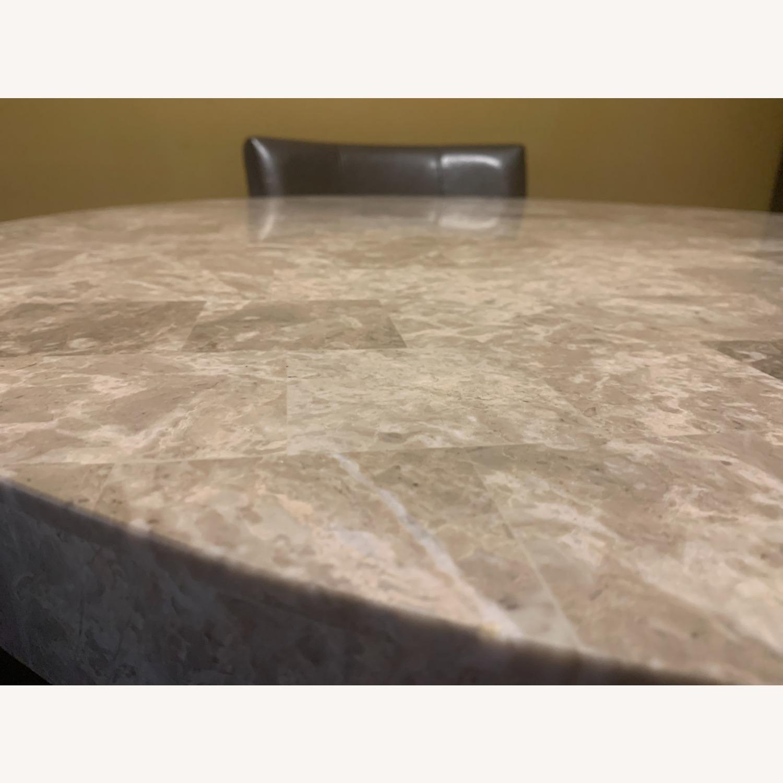 "Montibello Marble 40"" Round 5-Piece Dining Set - image-7"