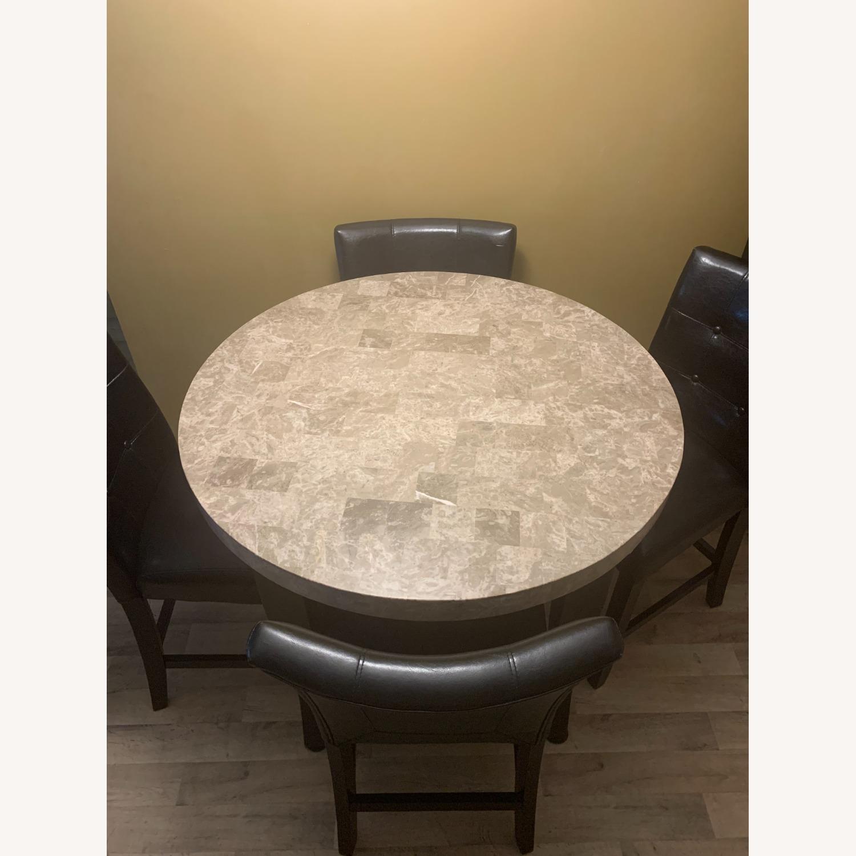 "Montibello Marble 40"" Round 5-Piece Dining Set - image-2"
