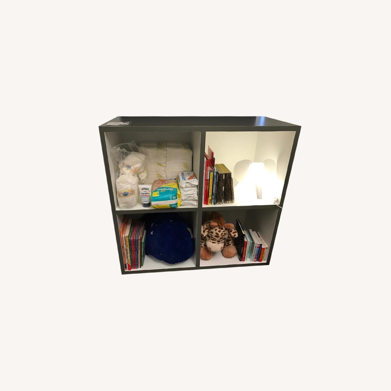 Custom Grey & White Bookshelf - image-4
