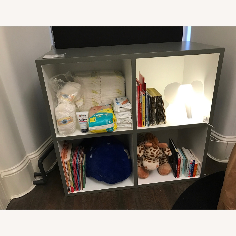 Custom Grey & White Bookshelf - image-2