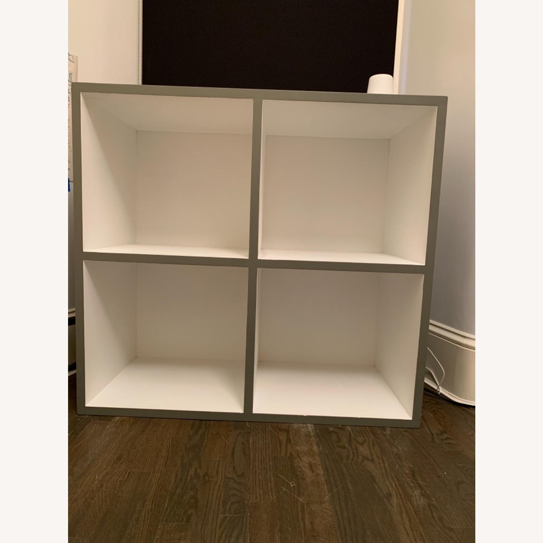Custom Grey & White Bookshelf - image-0