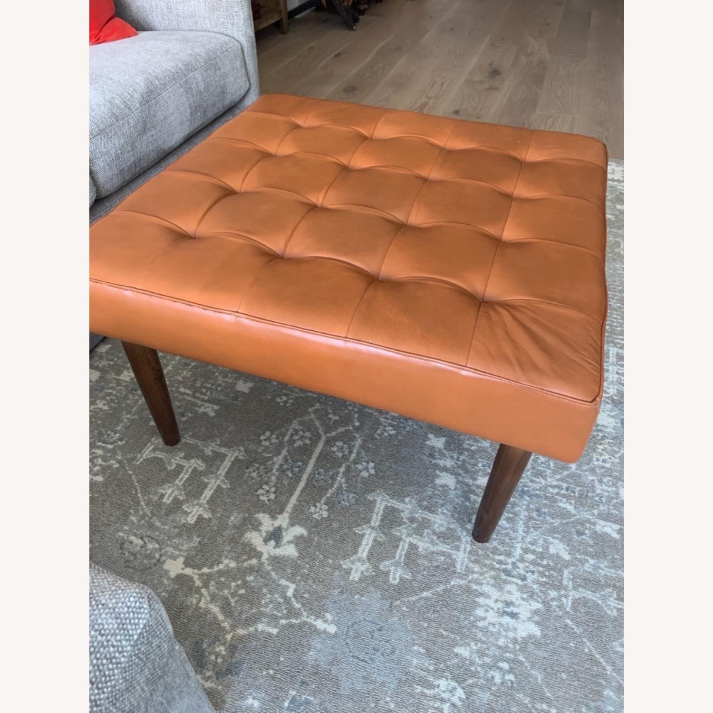 Wayfair Tan Leather Ottoman - image-5