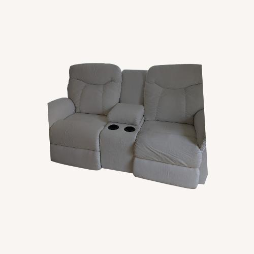 Used Lazzoni White Recliner Chairs with Beverage Holder for sale on AptDeco