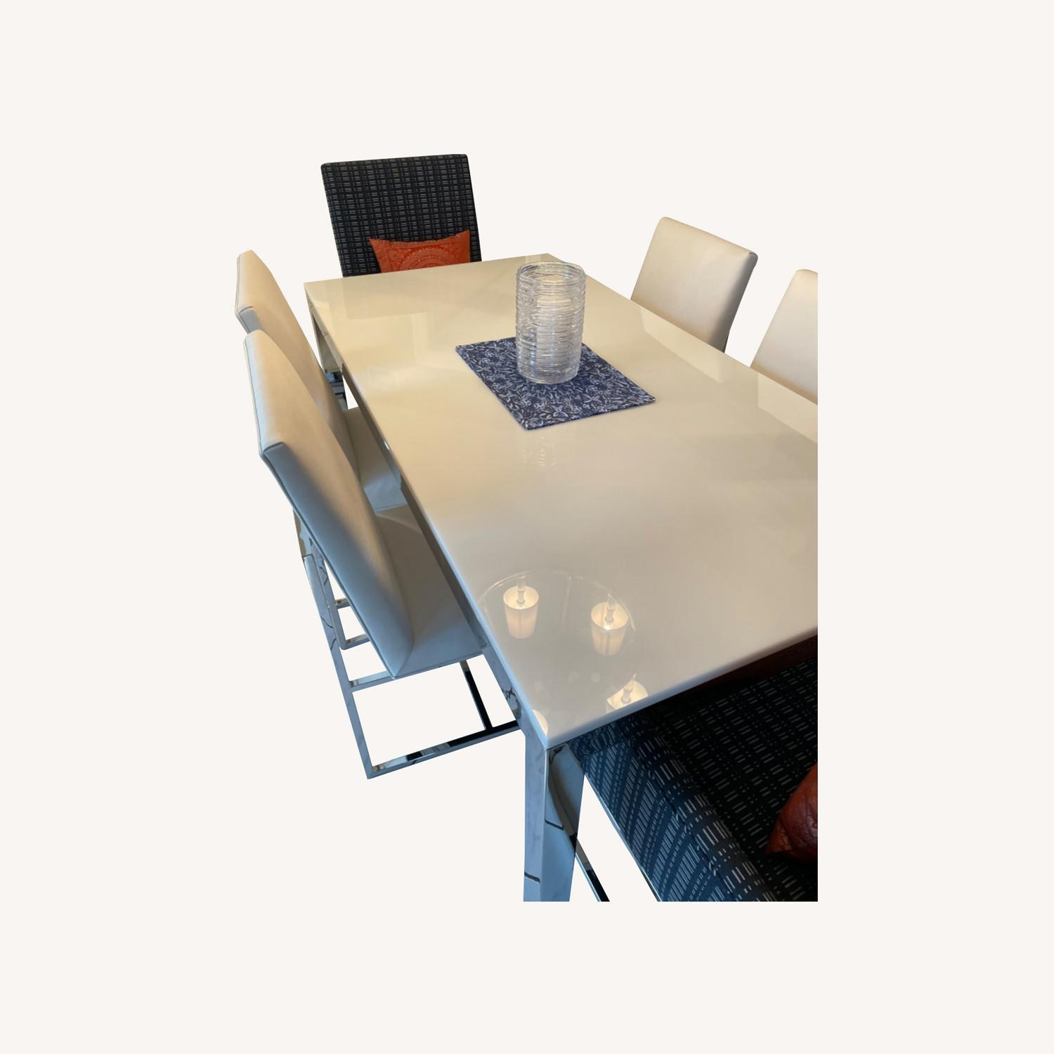 Mitchell Gold + Bob Williams Parsons Table & Chairs - image-0