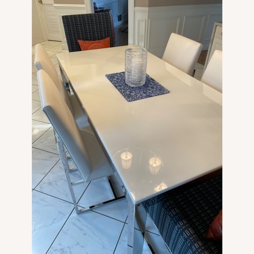 Used Mitchell Gold + Bob Williams Parsons Table & Chairs for sale on AptDeco