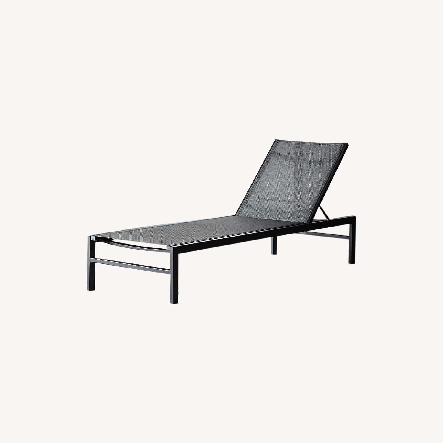 CB2 Black Outdoor Lounge Chair - image-0
