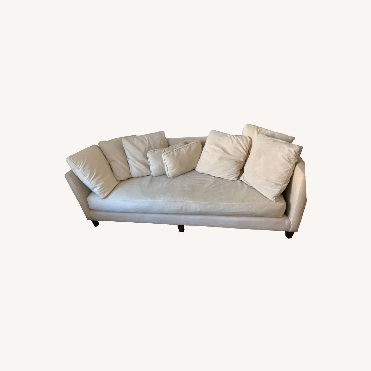 Crate & Barrel Wood Leg Couch - image-0