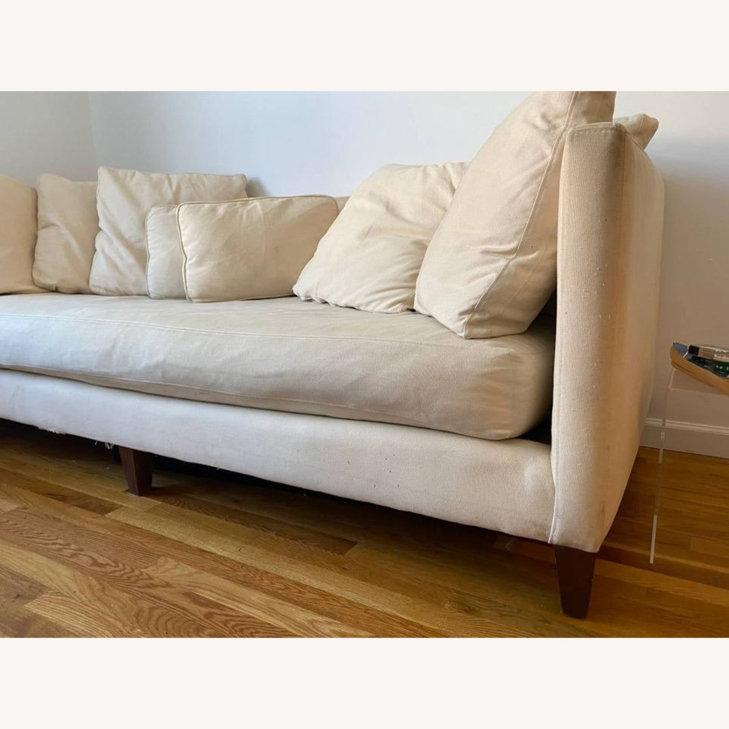Crate & Barrel Wood Leg Couch - image-4