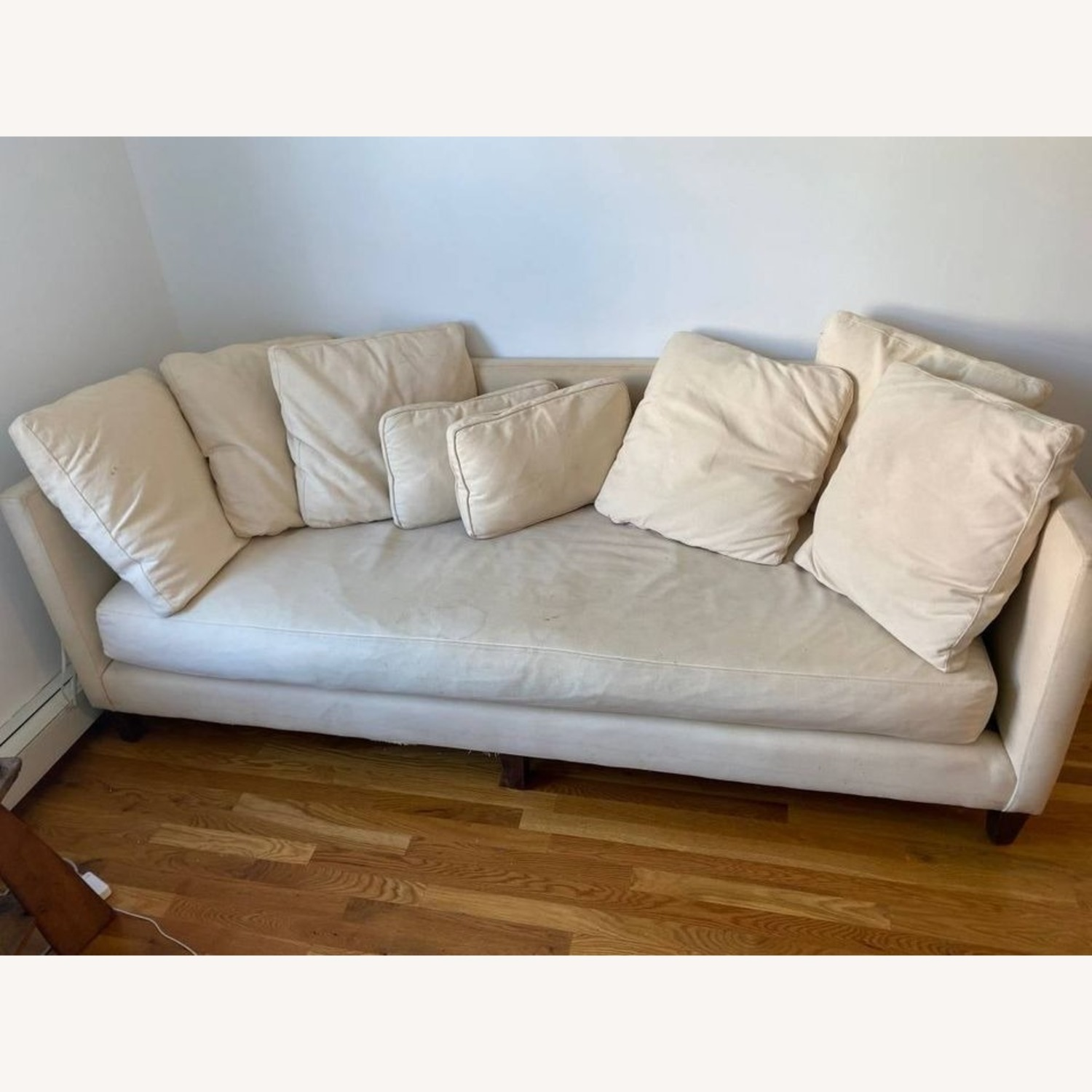 Crate & Barrel Wood Leg Couch - image-5