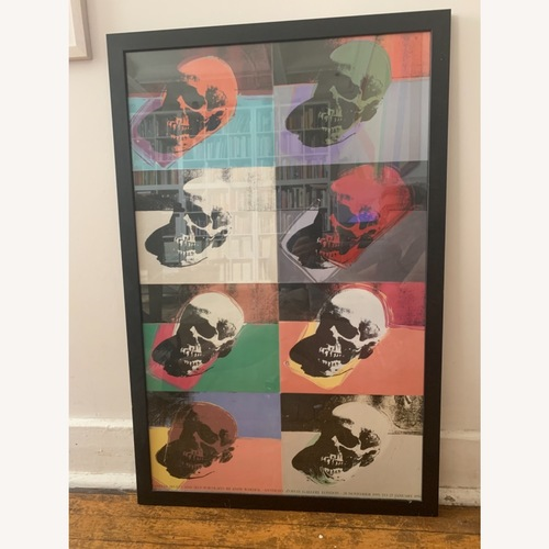 Used Andy Warhol 1995 Exhibit Poster Framed for sale on AptDeco