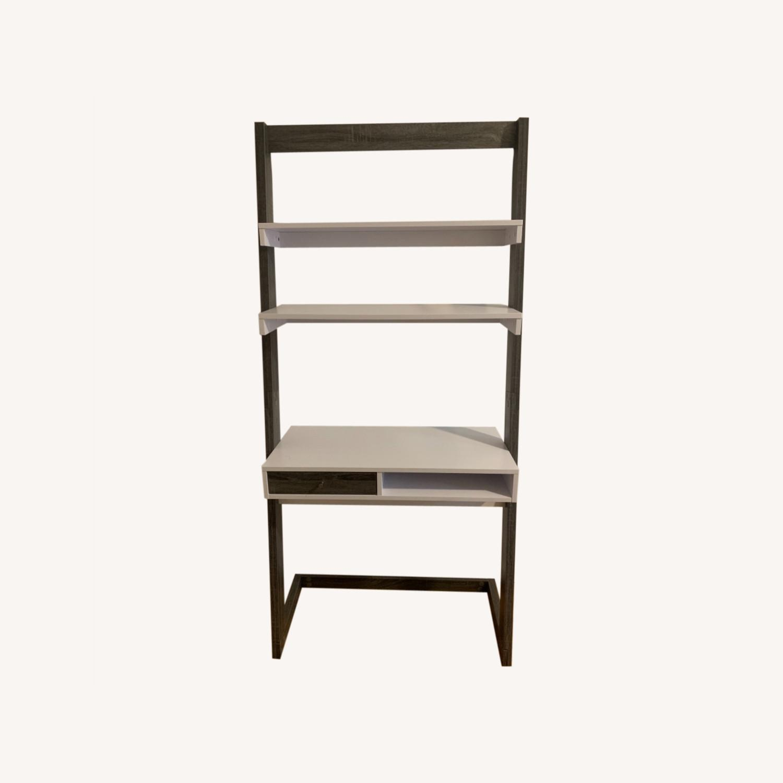 Wayfaif Leaning Desk White & Gray - image-0