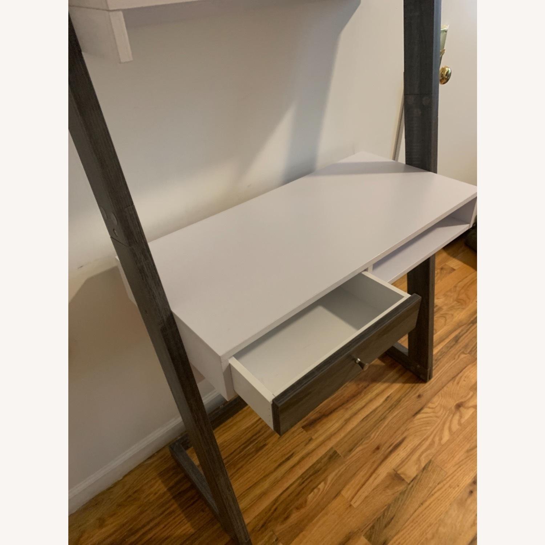 Wayfaif Leaning Desk White & Gray - image-6