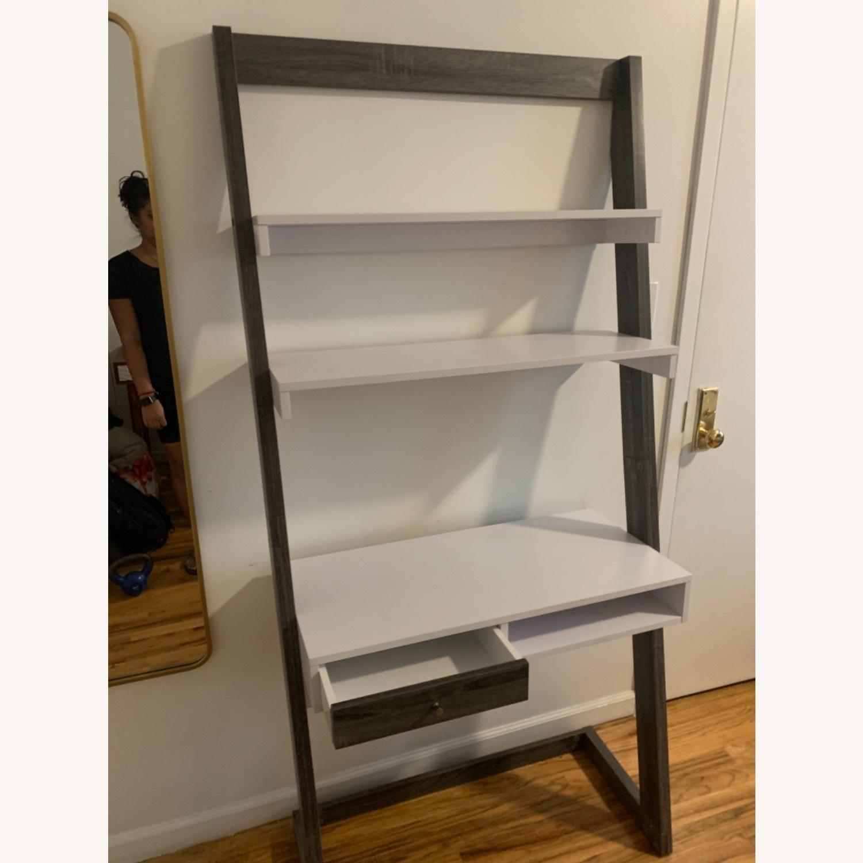 Wayfaif Leaning Desk White & Gray - image-2