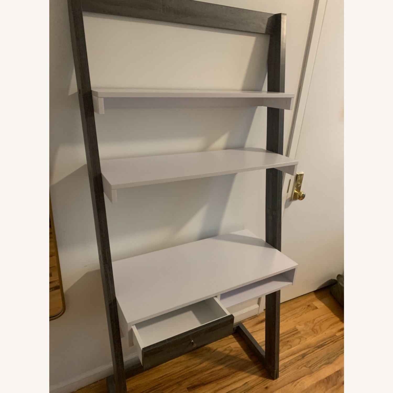 Wayfaif Leaning Desk White & Gray - image-5