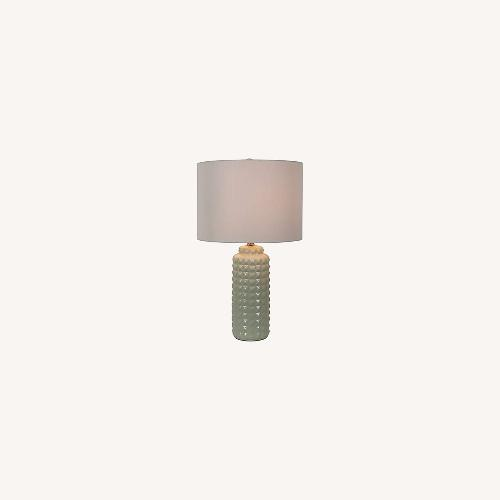 Used Bed Bath & Beyond Felix LED Ceramic Aqua Lamp Set for sale on AptDeco