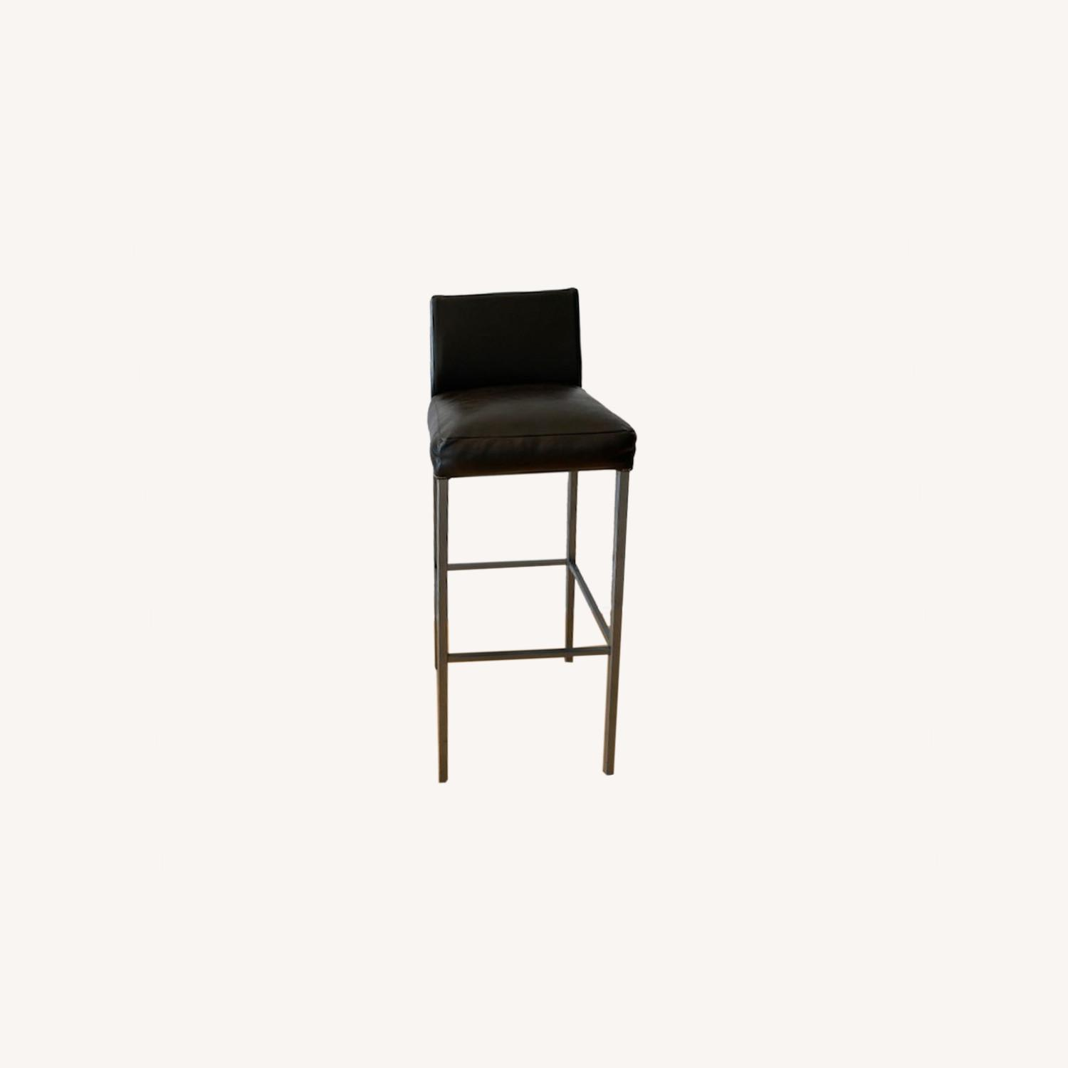 Design Within Reach Leather Barstool - image-0