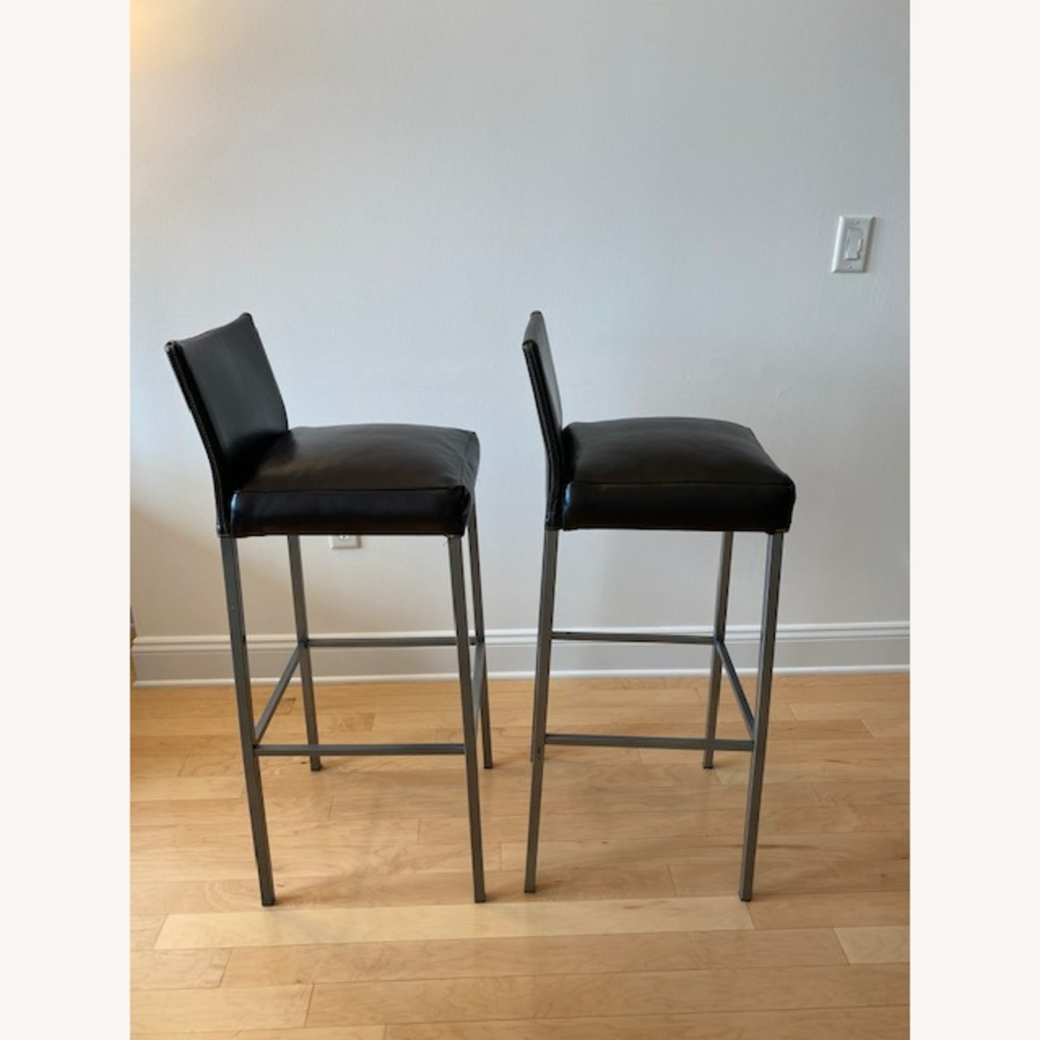 Design Within Reach Leather Barstool - image-2