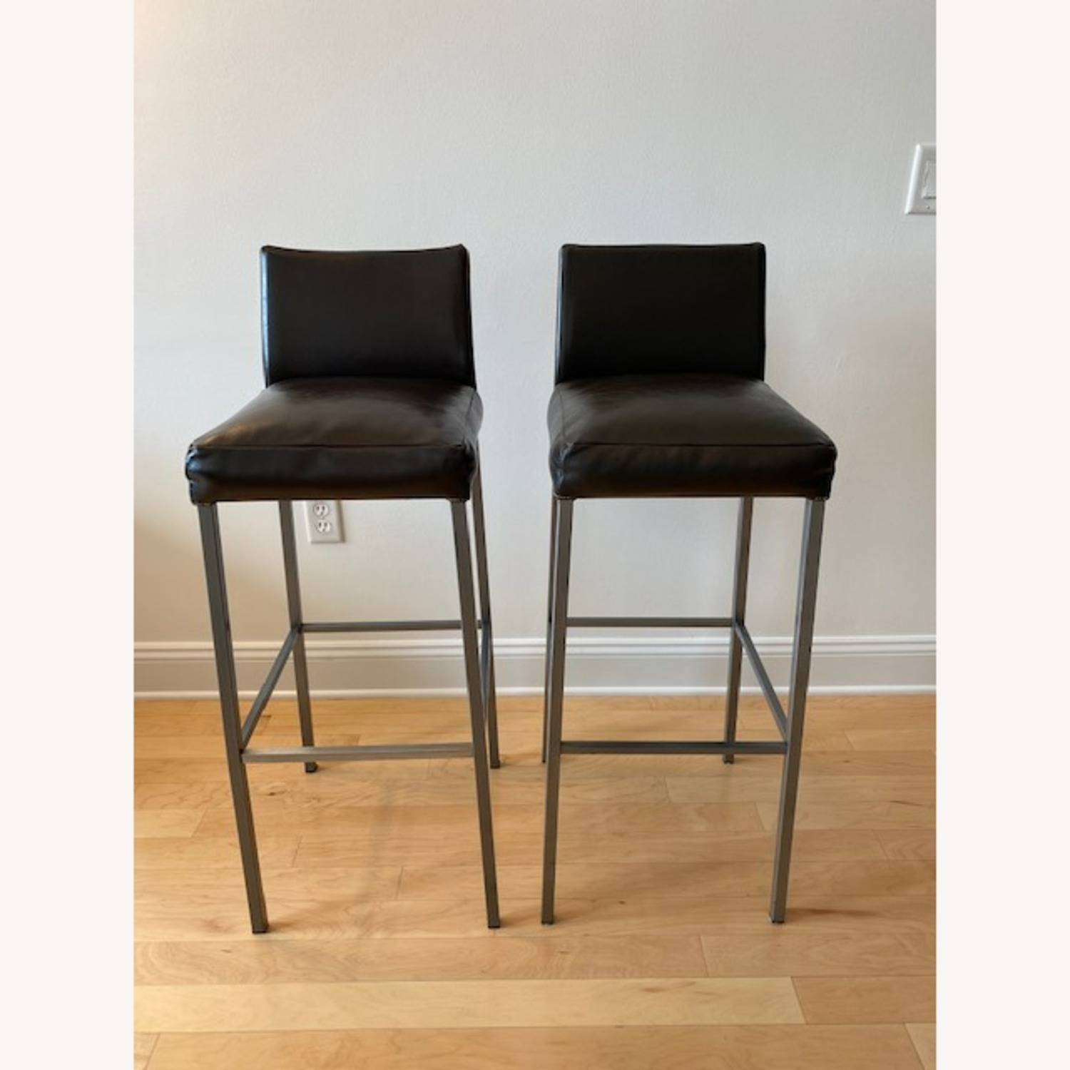 Design Within Reach Leather Barstool - image-1