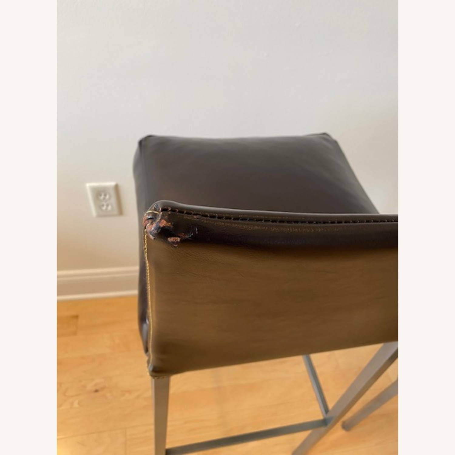 Design Within Reach Leather Barstool - image-5
