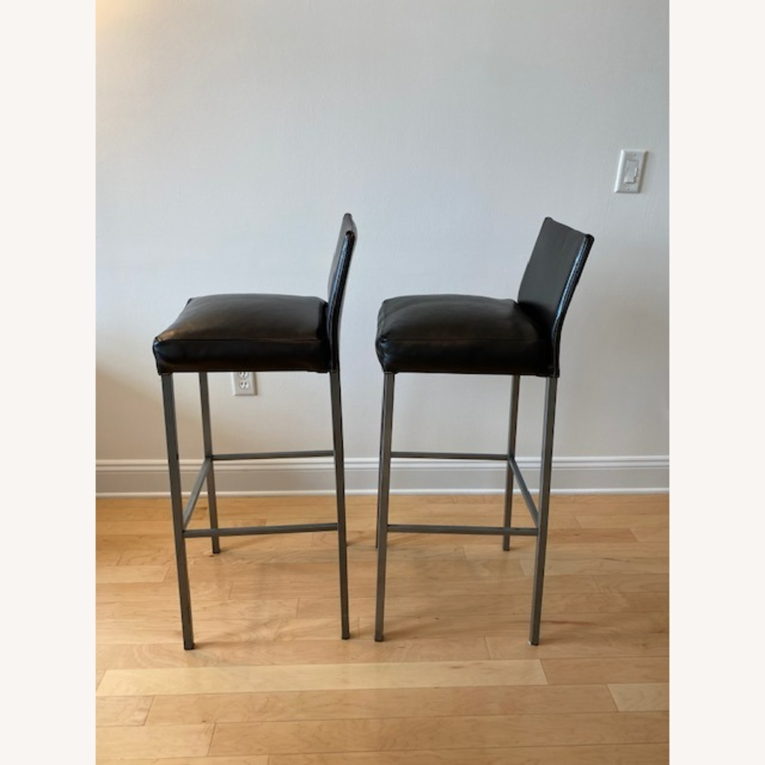 Design Within Reach Leather Barstool - image-3