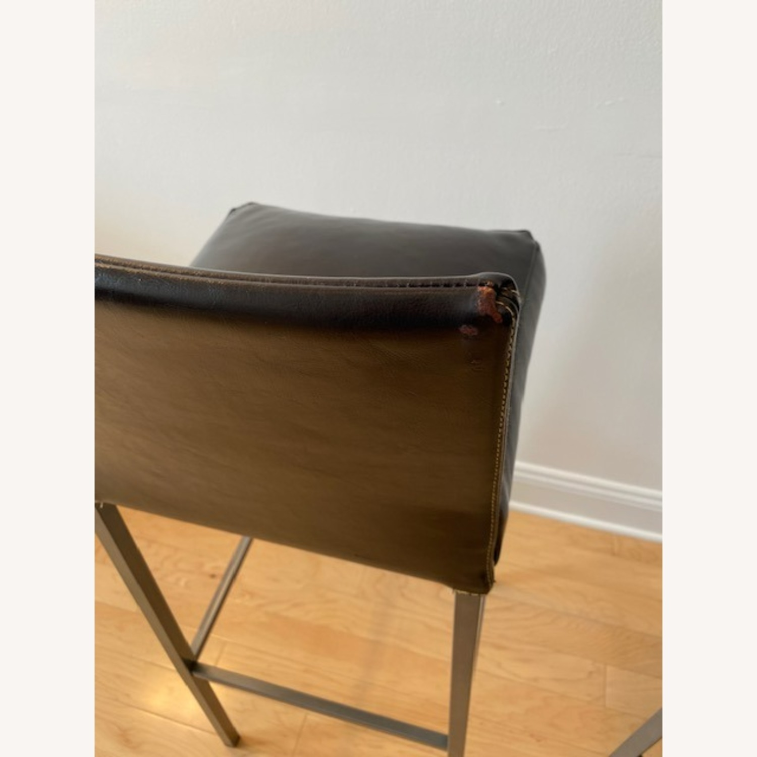 Design Within Reach Leather Barstool - image-6
