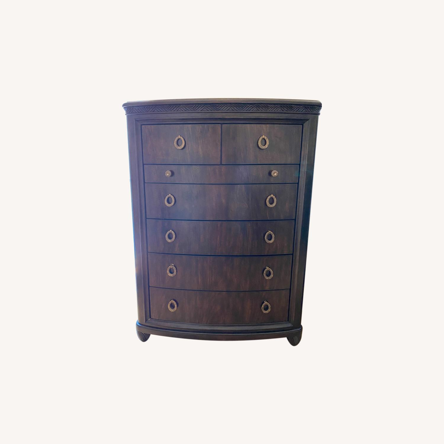 American Drew Tall Chest Drawer with Jewelry Compartment - image-0