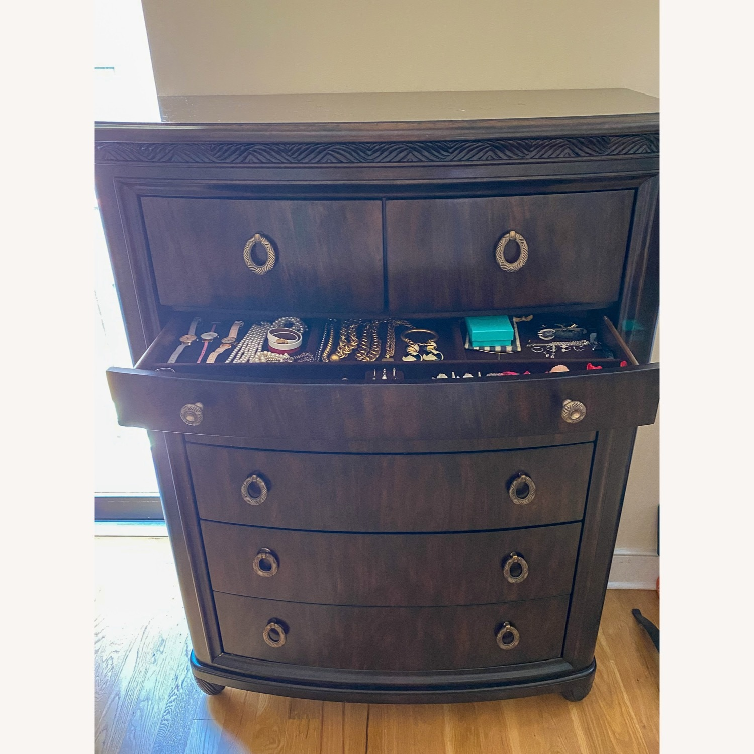 American Drew Tall Chest Drawer with Jewelry Compartment - image-5