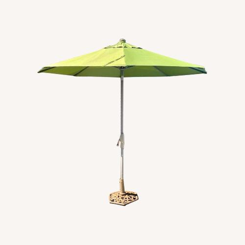 Used Frontgate 9' Round Outdoor Market Umbrella for sale on AptDeco