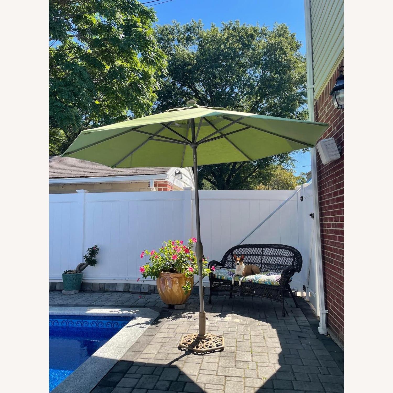 Frontgate 9' Round Outdoor Market Umbrella - image-2