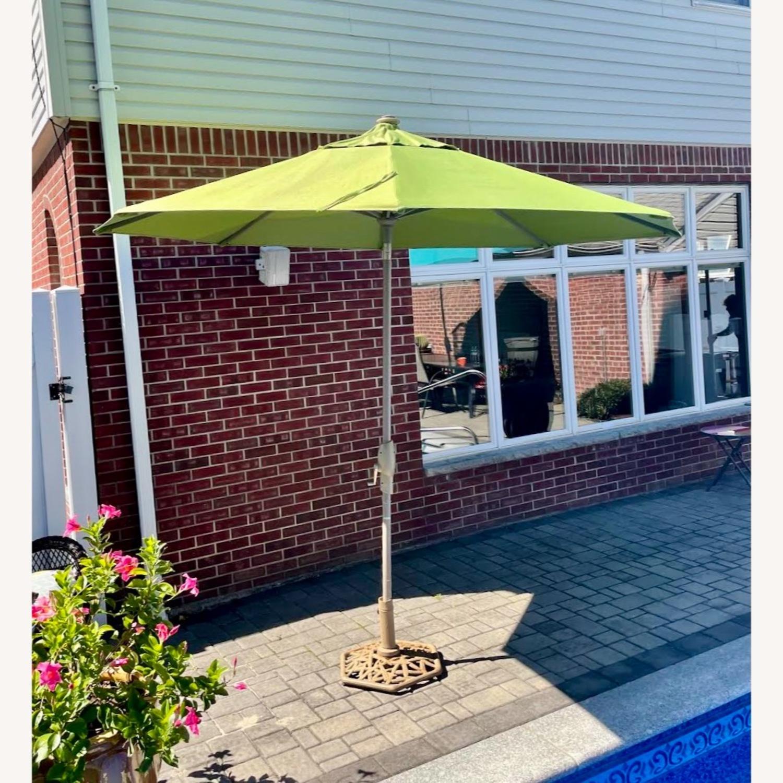 Frontgate 9' Round Outdoor Market Umbrella - image-1