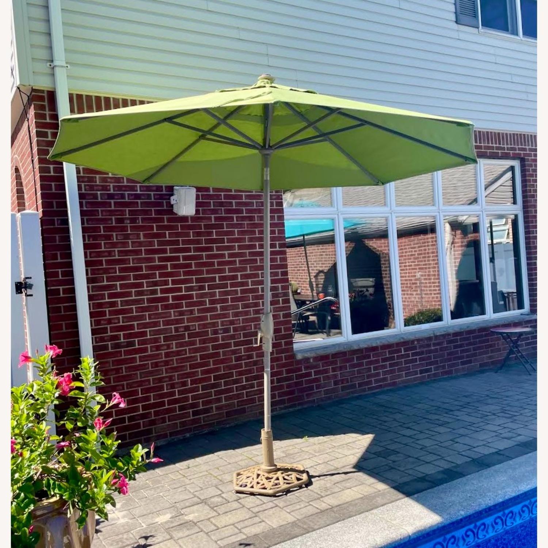 Frontgate 9' Round Outdoor Market Umbrella - image-3