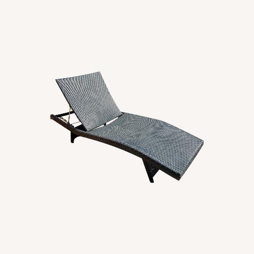Used Original Balencia Black Chaise Lounges, Set of Two for sale on AptDeco
