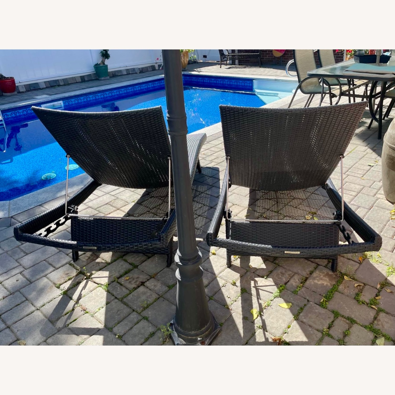 Original Balencia Black Chaise Lounges, Set of Two - image-4