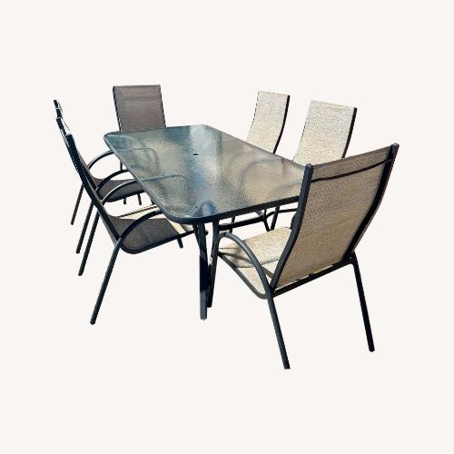 Used Outdoor Aluminum 7-Pc. Dining Set for sale on AptDeco