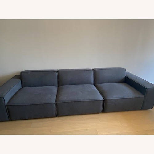 Used Modway 3-Pc Blue Sectional Sofa for sale on AptDeco
