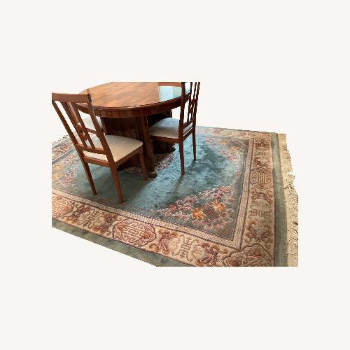 Used Bloomingdale's Classic Green Wool Chinese Rug for sale on AptDeco