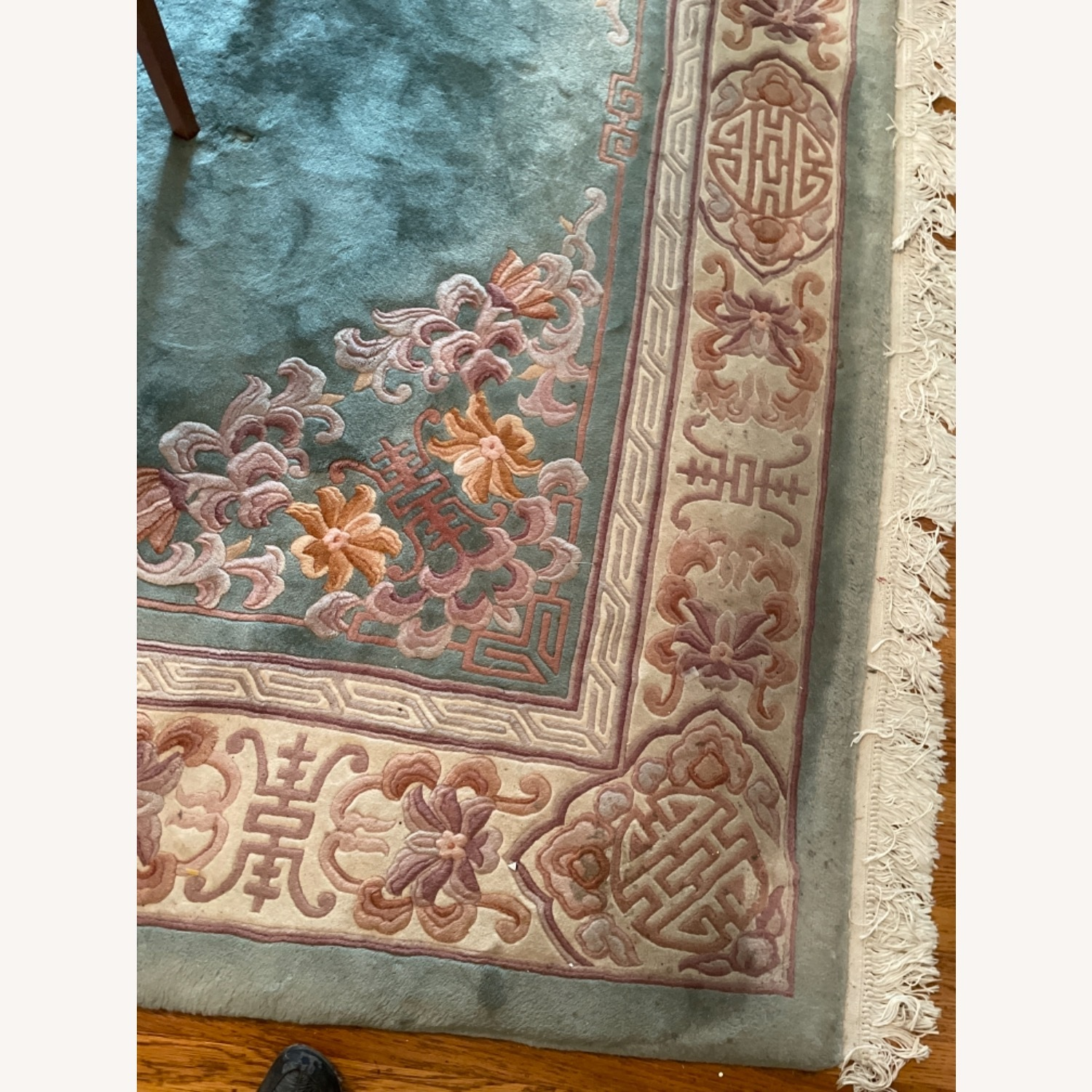 Bloomingdale's Classic Green Wool Chinese Rug - image-4