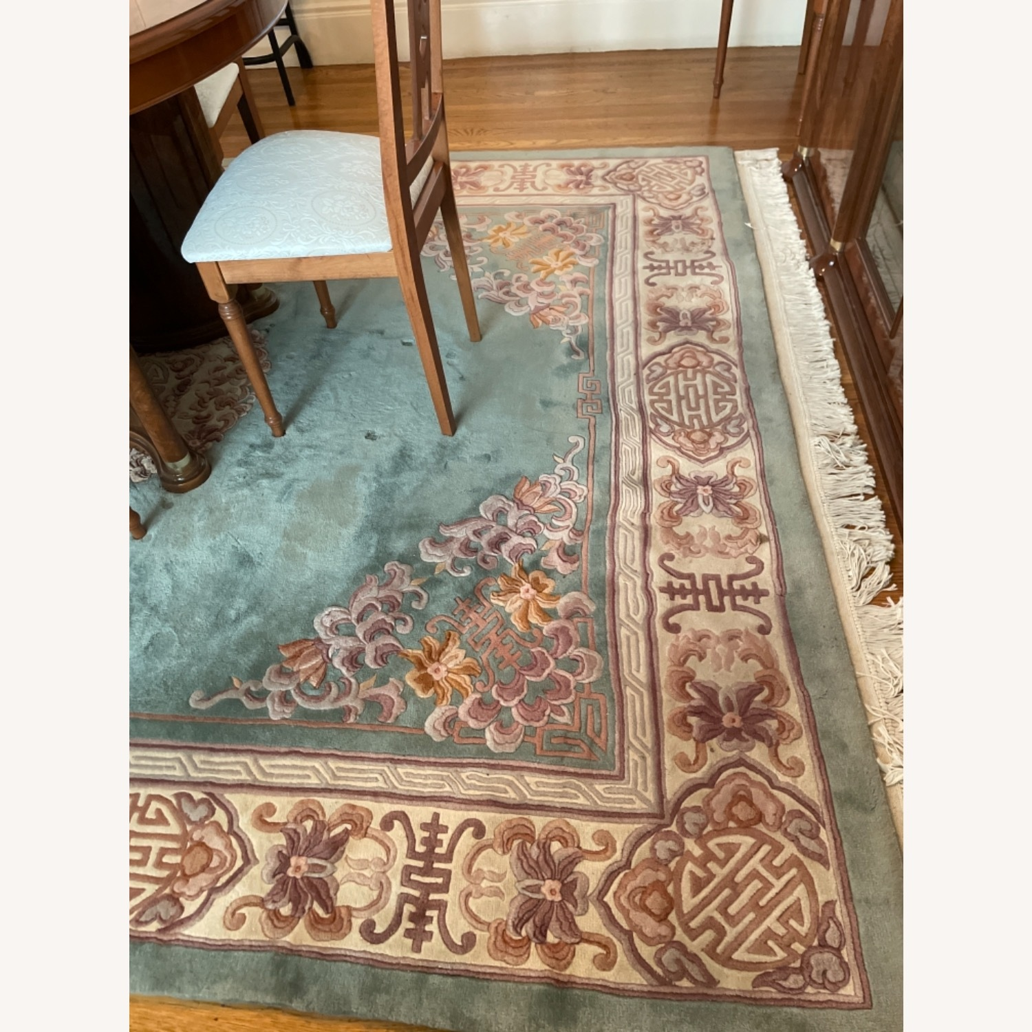 Bloomingdale's Classic Green Wool Chinese Rug - image-6